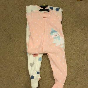 NWT Carter's fleece pajamas